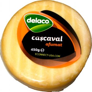 Econnect Usa Delaco Smoked Cheese Cascaval Afumat 450gr